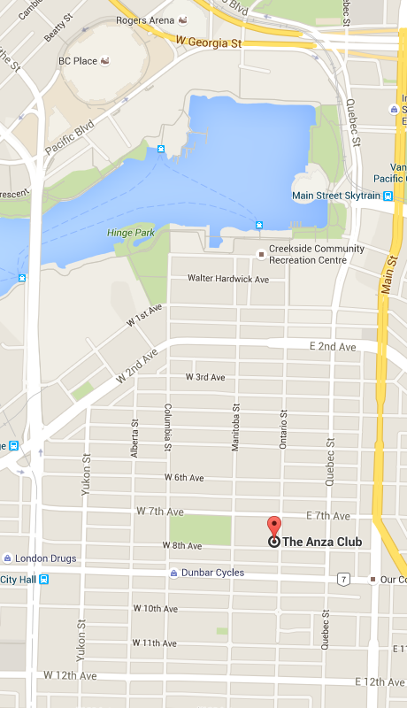 ANZA Club Location Map
